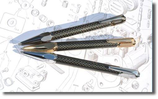Vertex Carbon Fibre Ballpoint Pen - The Forest At Your Fingertips.com